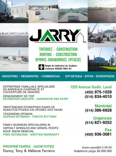 Couvreurs JARRY inc.
