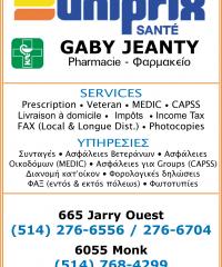 UNIPRIX – GABY JEANTY