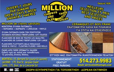 MILLION TAPIS & TUILES Ceramiques