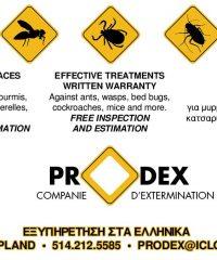 PRODEX CIE D'EXTERMINATION  / PEST CONTROL